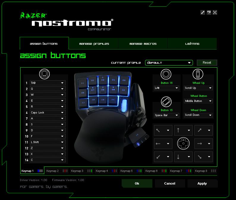 Razer Nostromo Gaming Keypad Synapse 2.0 Last